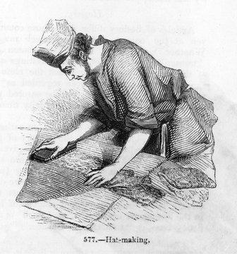 Hatter at Work C 1850