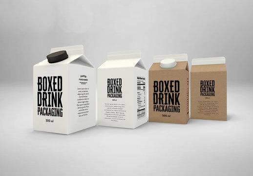 500 ml Drink Box Packaging Mockup