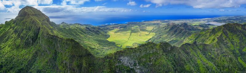 Wall Mural - Hawaiians mounts with oceanin background