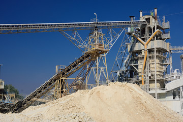 Huge quarry zone in Northern Israel.
