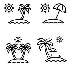 set of summer icon