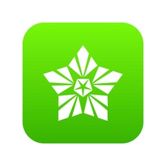 Geometric star icon. Simple illustration of geometric star vector icon for web
