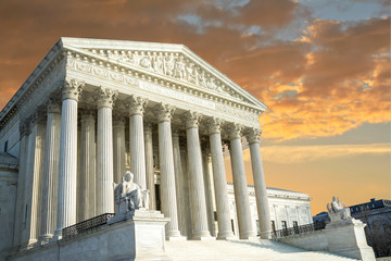 United States Supreme Court Building in Washington DC, USA