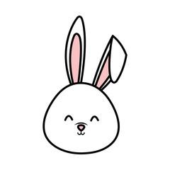 cute rabbit head character