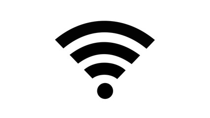 Wall Mural - wifi or wi-fi wireless flat icon animation motion graphics with alpha channel