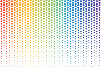 Rainbow polka dots background - Vector illustration