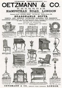 Advertisement for OetzmAnn CoVictoriAn Furniture 1890