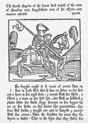 Woodcut of a Knight 1474