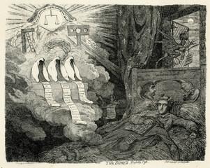 Cartoon, Tom Paines Nightly Pest