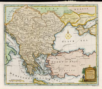 Map Europe Balkans 1792