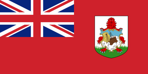 Flag Bermuda in official rate and colors, vector