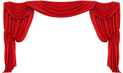 Red Theatre Curtain Isolated