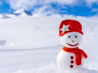 Image of a snowman. Handiwork.