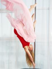 Pole dance girl on the pylon
