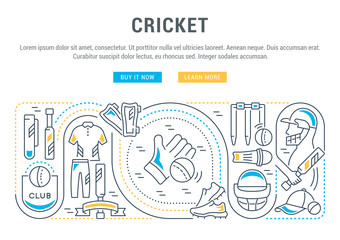 Vector Banner of the Cricket.