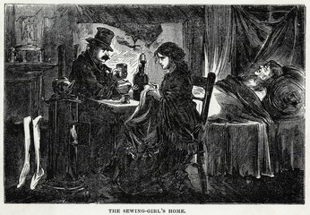 Girl Sews New York 1872