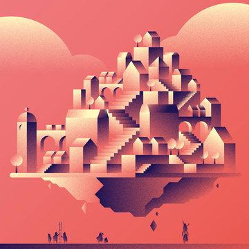 Ville géométrique - Devenir propriétaire dans un marché immobilier difficile - Rouge