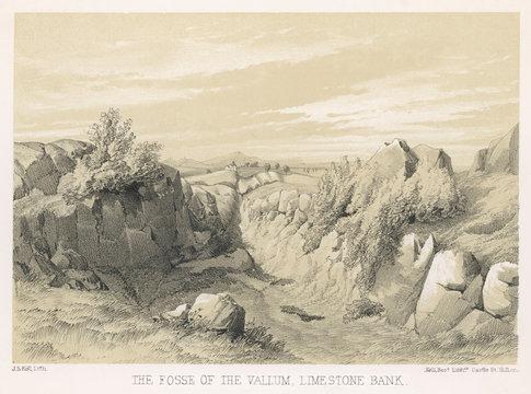 Vallum on Hadrians Wall