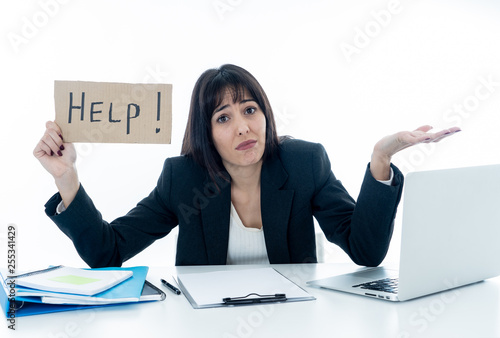 Young Business Woman Stressed And Desperate With Laptop
