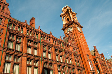 The Principal Manchester, former  Palace Hotel, a red brick Victorian building, Manchester, UK