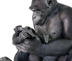 Schimpanse als Babysitter