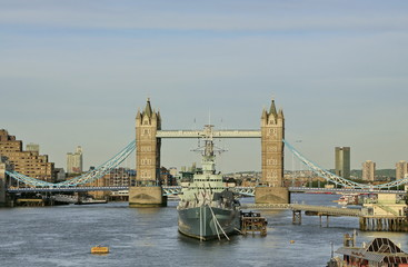 HMS Belfast of Thames London