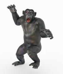 Schimpansen Attacke