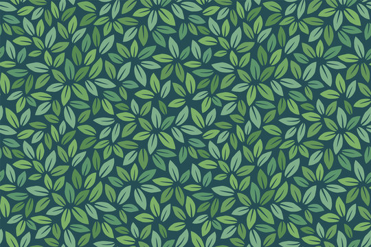 Leaves Pattern. Endless Background. Seamless