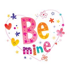 Be mine romantic love design