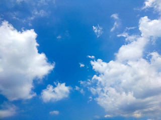 Blue sky and white cloud in sunny day.