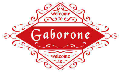 vector  Welcome to Gaborone