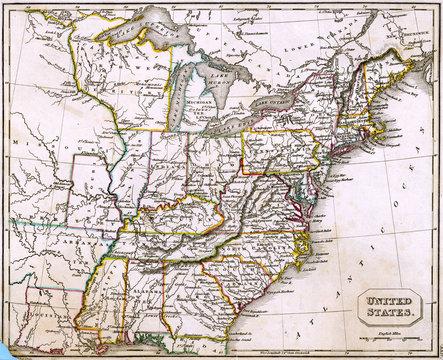 Map North America 1827
