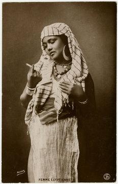 Egyptian Lady Smokes