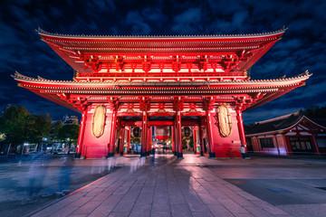 Sensoji is an ancient Buddhist temple at night in Asakusa, Tokyo, Japan. Fototapete