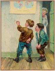 Boys Write on Wall 1894