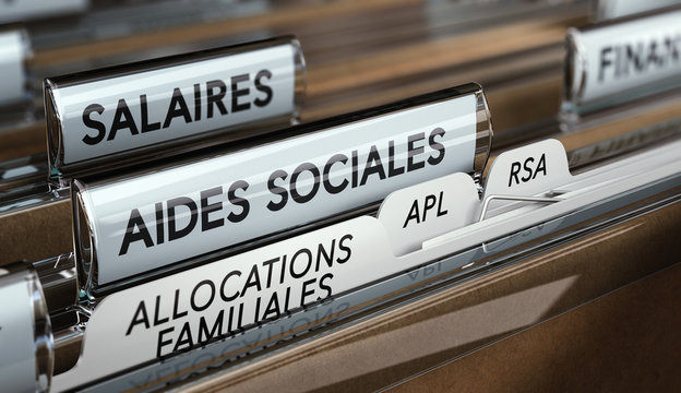 Aides sociales, allocations familiales, APL et RSA