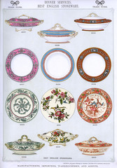 Dinner Services, Best English Stoneware, Plate 5