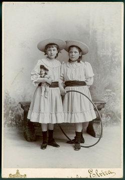 Girls Hoop Photo 1890s