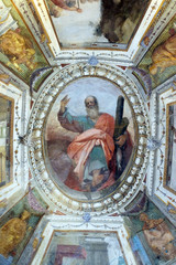 Saint Andrew, fresco in Basilica of Santa Croce (Basilica of the Holy Cross) in Florence, Italy