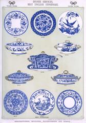 Dinner Services, Best English Stoneware, Plate 2