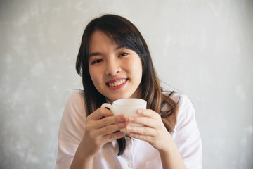 Lovely Asian young lady portriat - happy woman lifestyle concept