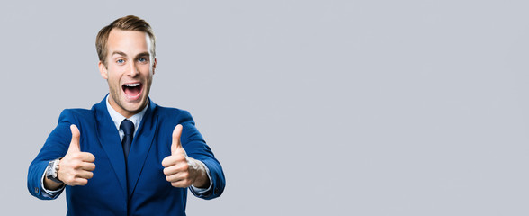 businessman with thumbs up gesture Wall mural