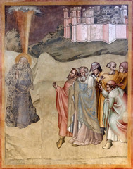 St. Gregory finding by the people for election as pontiff, fresco by Dalmasio Iacopo of Scannabecchi, Santa Maria Novella Principal Dominican church in Florence, Italy
