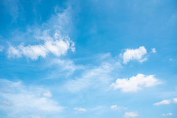 Blue sky and white clouds Wall mural