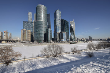 Moskva-city. A new attraction of the capital of Russia.