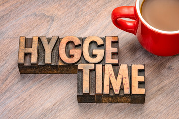 hygge time in wood type
