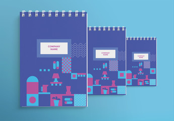 Notebook Set with Geometric Elements