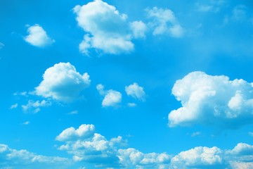marvellous toned cumulus cloudy sky for using in design as background.