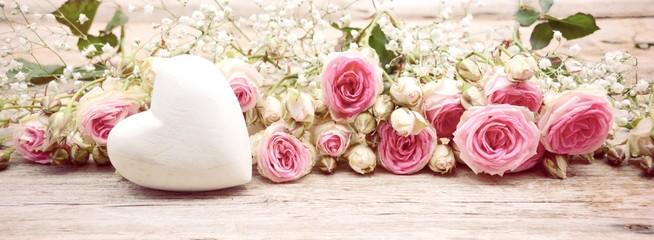 Blumenstrauß Rosen Hintergrund Panorama
