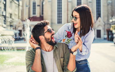 Happy couple. Love, dating, romance